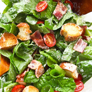 BLT Salad with Buttermilk Dressing.