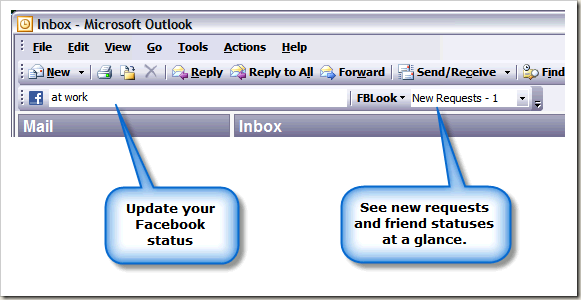 Actualizar Facebook desde Outlook