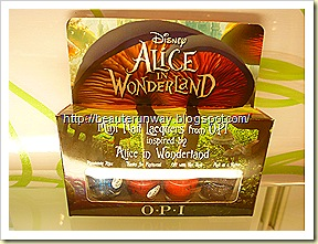 opi alice in wonderland nail lacquers
