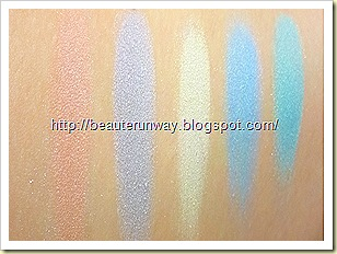 swatches Shiseido spring collection 2010