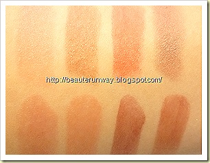swatches of glowing matt and tender sheer