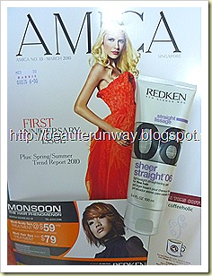 amica 1st anniversary issue redken hair gel