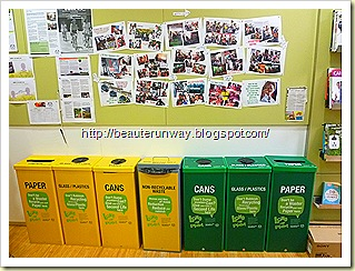 the body shop recycling bins
