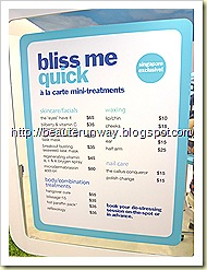 bliss spa price list sephora singapore