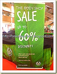 the body shop atrium sale