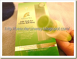 Ginvera Green Tea Jade Dark Eye Circles Roll Away Close up