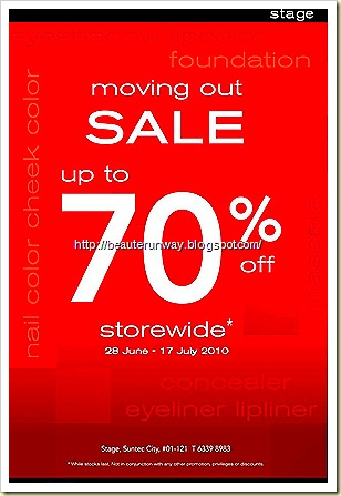 stage cosmetics suntec city moving out sale