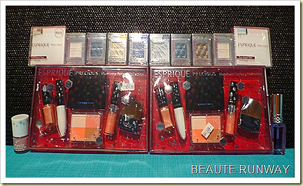 Esperique precious christmas sets, single eye shadows, nails.