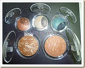 The Body Shop Baked to last eyeshadows and bronzers close up