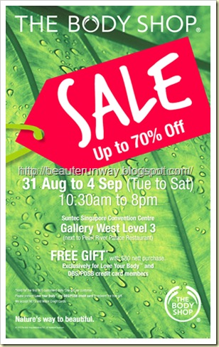 the body shop sale aug