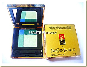 YSL 4 colour harmony Eyeshadow Absinthe Green