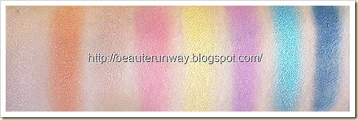 Loreal Hip Eyeshadow swatches Flare, adventurous,Flamboyant, Showy