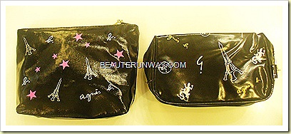 Agnes B Vantiy case and cosmetic pouch