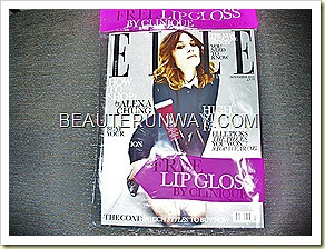 ELLE UK Magazine Clinique Superbalm Moisturizing Gloss