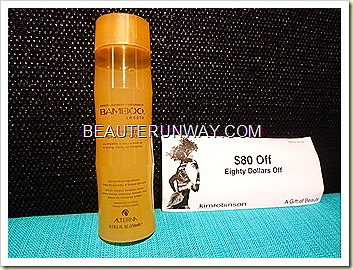 Alterna bamboo shampoo anti-frizz smooth hair Kim Robinsons