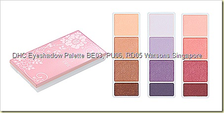 DHC Eyeshadow Palette BE03, PU06, RD05