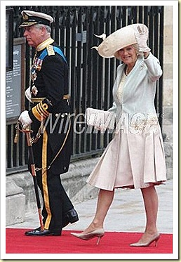CAMILLA DUCHESS OF YORK WITH  JIMMY CHOO 24 7 LOCKETT  AT THE ROYAL WEDDING