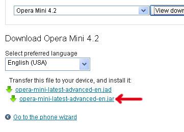 Opera mini jar file download