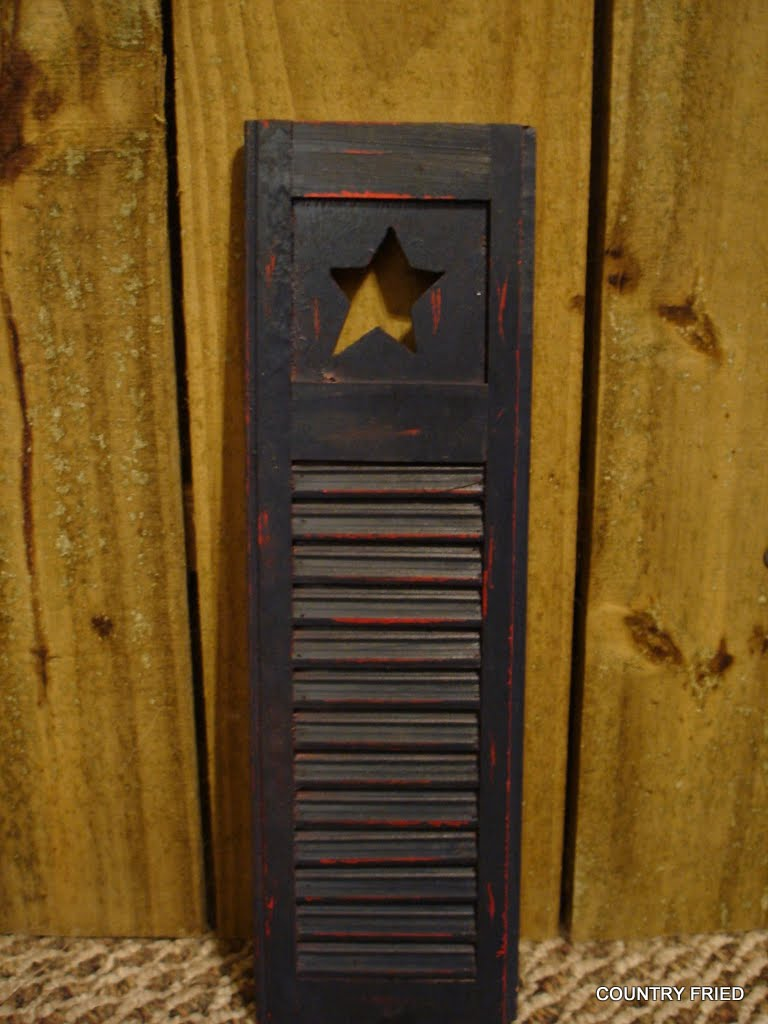 Country Fried Small Primitive Shutters