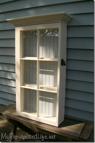 Repurposed Window Cabinet 1, And Repurposed Cabinet With A Window 2. I Had  Two Windows Left, One Of Which Was Very Wonky! One Of The Panes Of Glass  Was ...