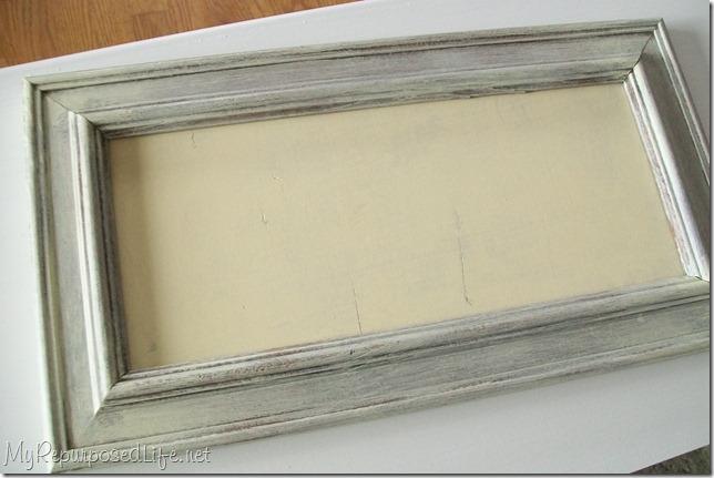 dry brush technique for thrift store frame