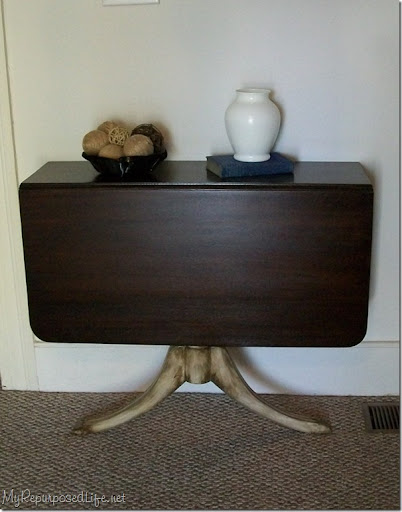 Antique Drop Leaf Table Into A Console Table