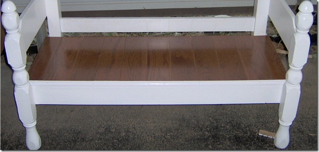 easy white four poster headboard bench