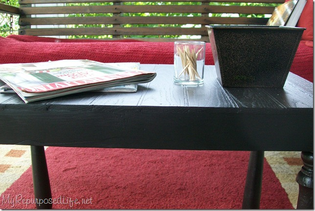 easy black porch table