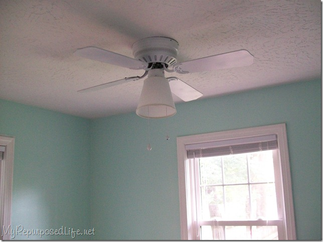 Painting a ceiling fan my repurposed life white ceiling fan aloadofball Gallery