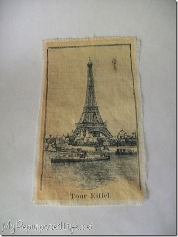 eiffel tower on fabric printed using a home printer