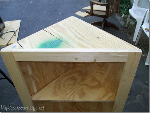 DIY corner cabinet - My Repurposed Life®