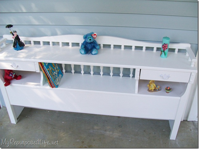 repurposed headboard