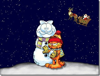 Christmas-(A-Garfield's-Snowman)-Screensaver-0826