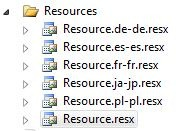 Resources Folder in Visual Studio 2010