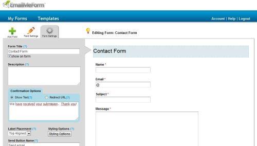 Własny formularz kontaktowy na bloggerze