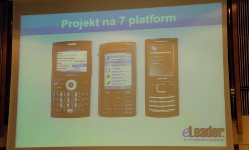 Pierwsza prezentacja projekt na 7 platform mobilnych