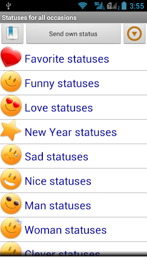 Statuses for all occasions