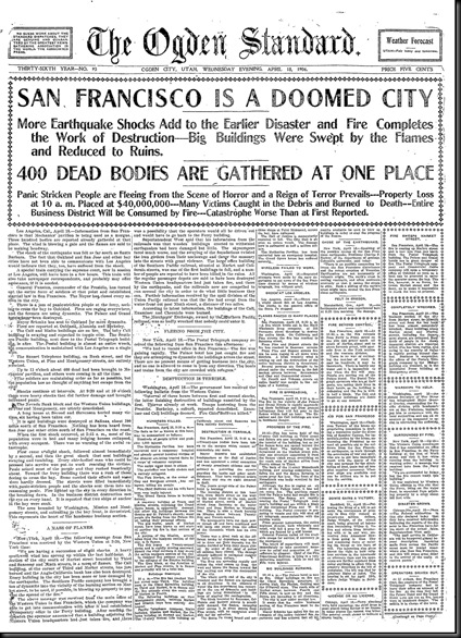 San Francisco Earthquake 18Apr1906