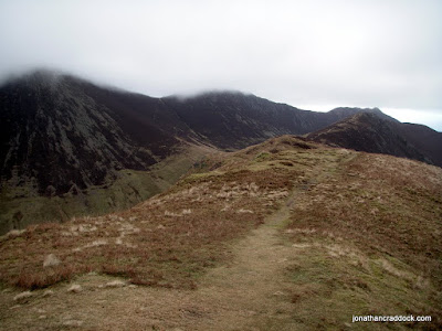 View from Knott Rigg towards Ard Crags, Scar Crags and Causey Pike behind