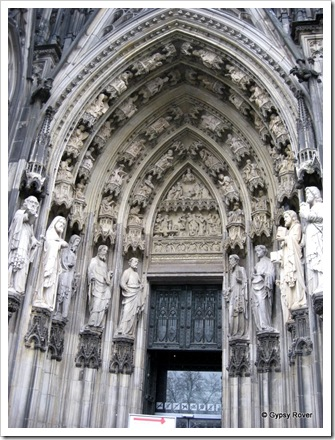 One of several entrances to Cologne cathedral.