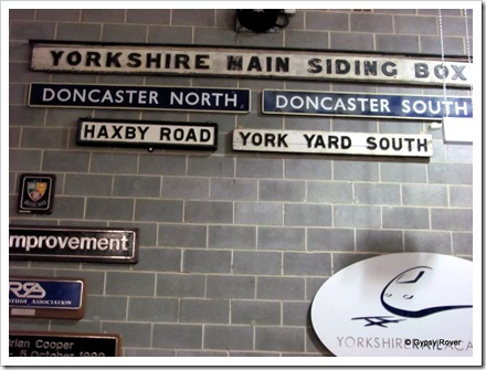 More of the hundreds of name plates of goods yards mounted around the NRM.
