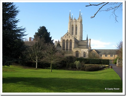 St Edmundsbury Cathedral with a new bell tower completed in 2005.