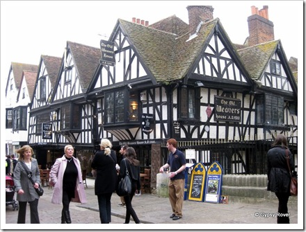 The old Weavers House AD1500. Canterbury.