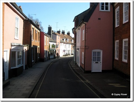 Woodbridge where all the roads are this narrow.