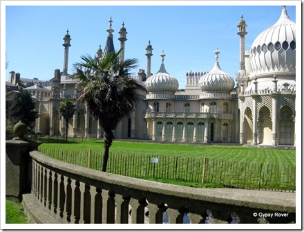 The Royal Pavilion in Brighton. King George IV's holiday home.