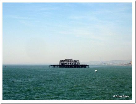 Brightons burnt out West Pier left to the elements.