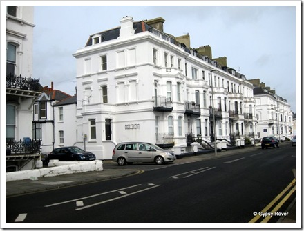 Sea front boarding houses along Deal Marine Parade..