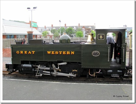 Vale of Rheidol no 8, a 2-6-2 built 1923, restored by the Brecon Mountain Railway 1996.