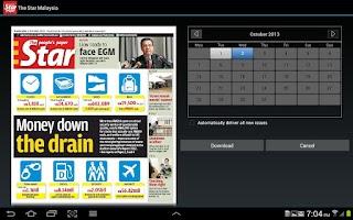 Screenshot of The Star ePaper