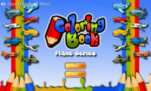 Coloring Book Plane Series